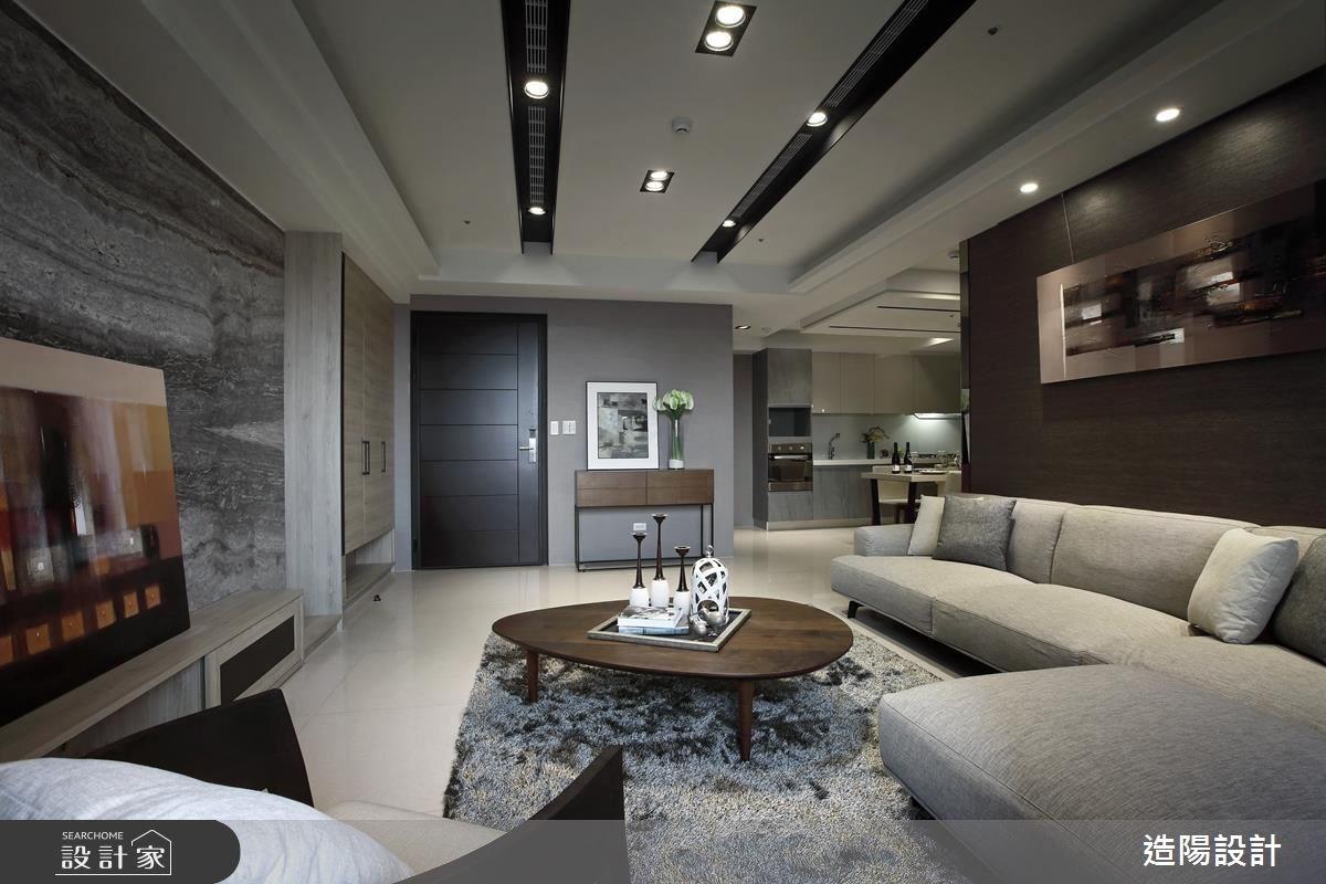 56坪新成屋(5年以下)_現代風玄關客廳案例圖片_造陽設計_造陽_07之4