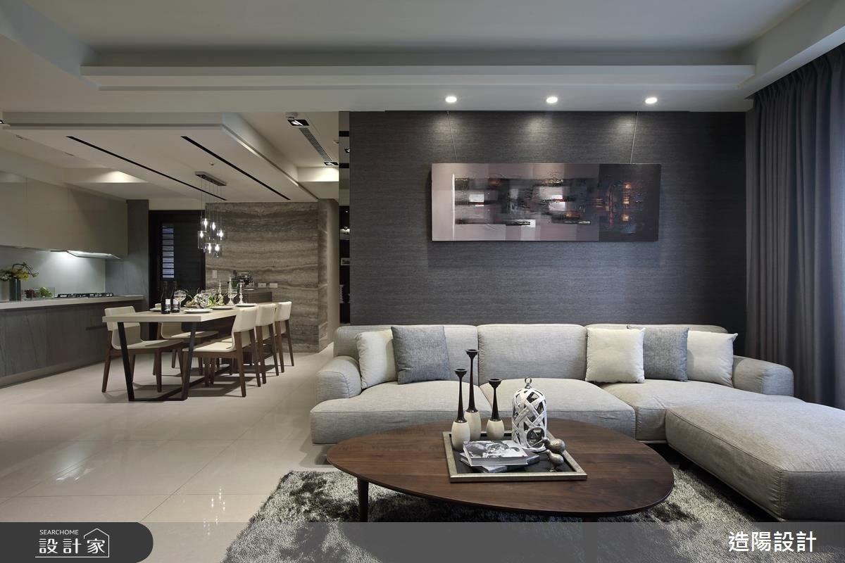 56坪新成屋(5年以下)_現代風客廳餐廳廚房案例圖片_造陽設計_造陽_07之5