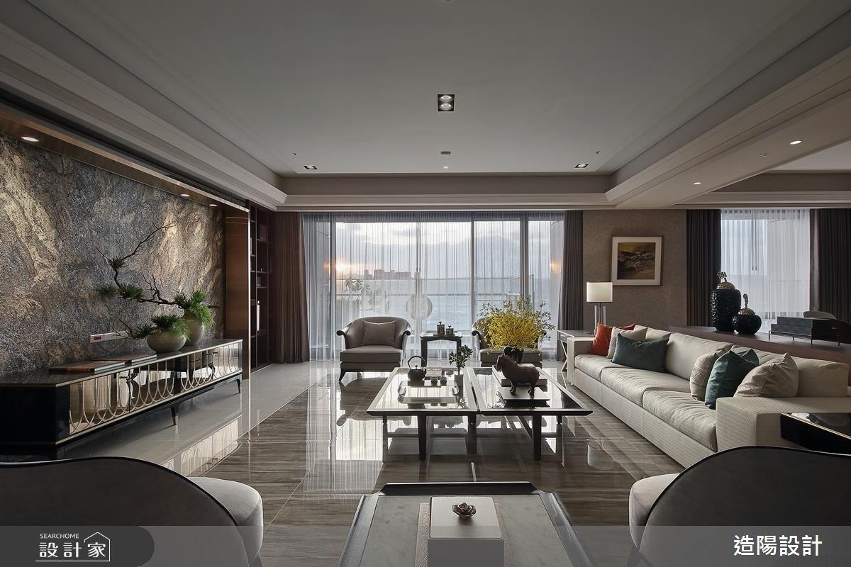 141坪新成屋(5年以下)_新中式風客廳案例圖片_造陽設計_造陽_11之4