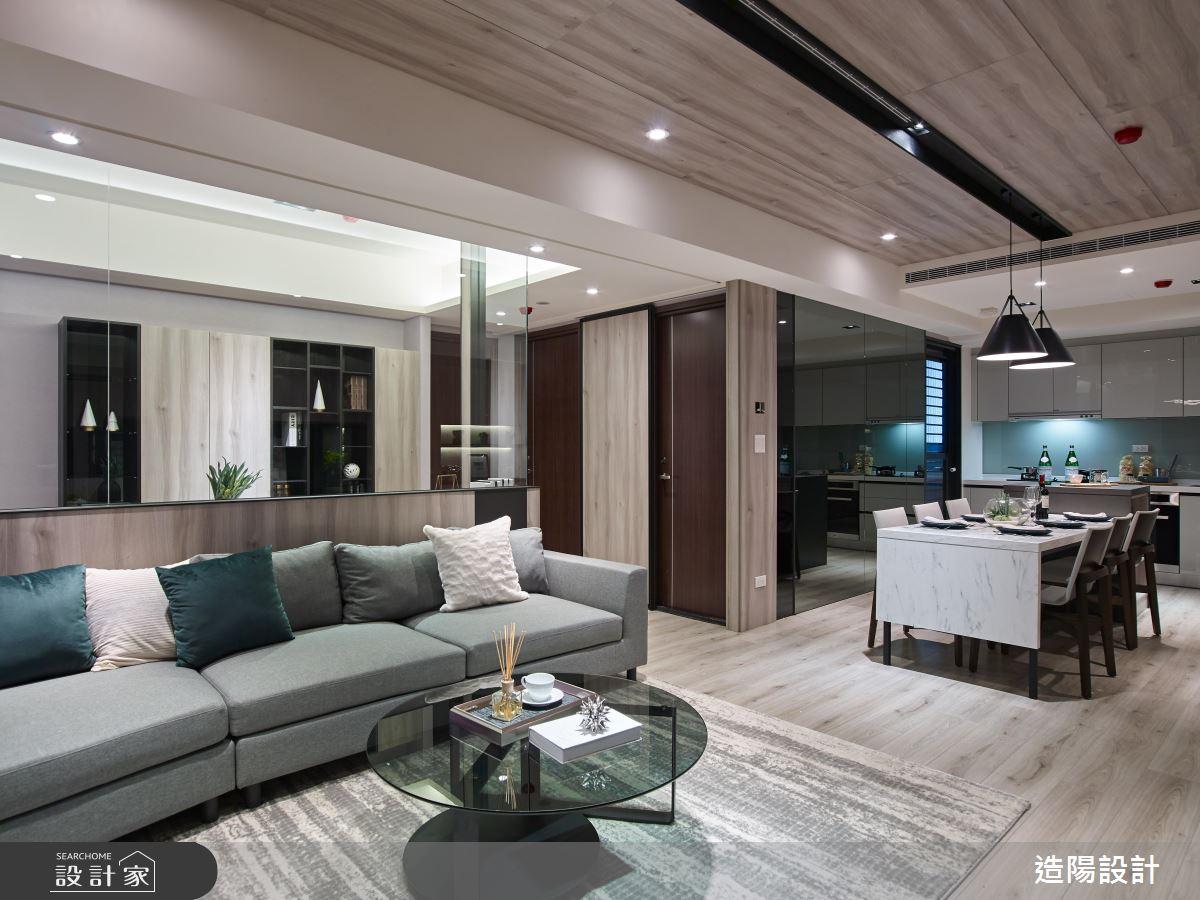 44坪新成屋(5年以下)_現代風客廳餐廳案例圖片_造陽設計_造陽_23之4