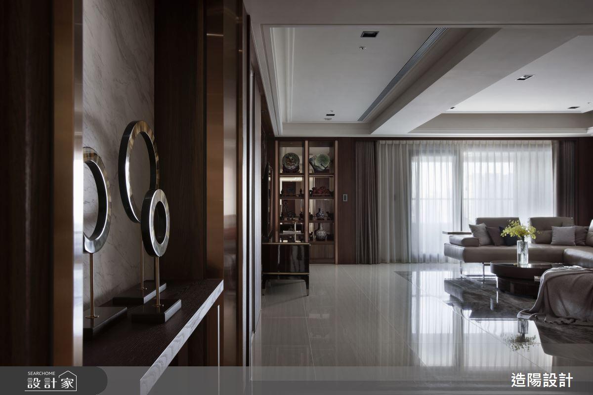 120坪新成屋(5年以下)_新中式風客廳案例圖片_造陽設計_造陽_28之3