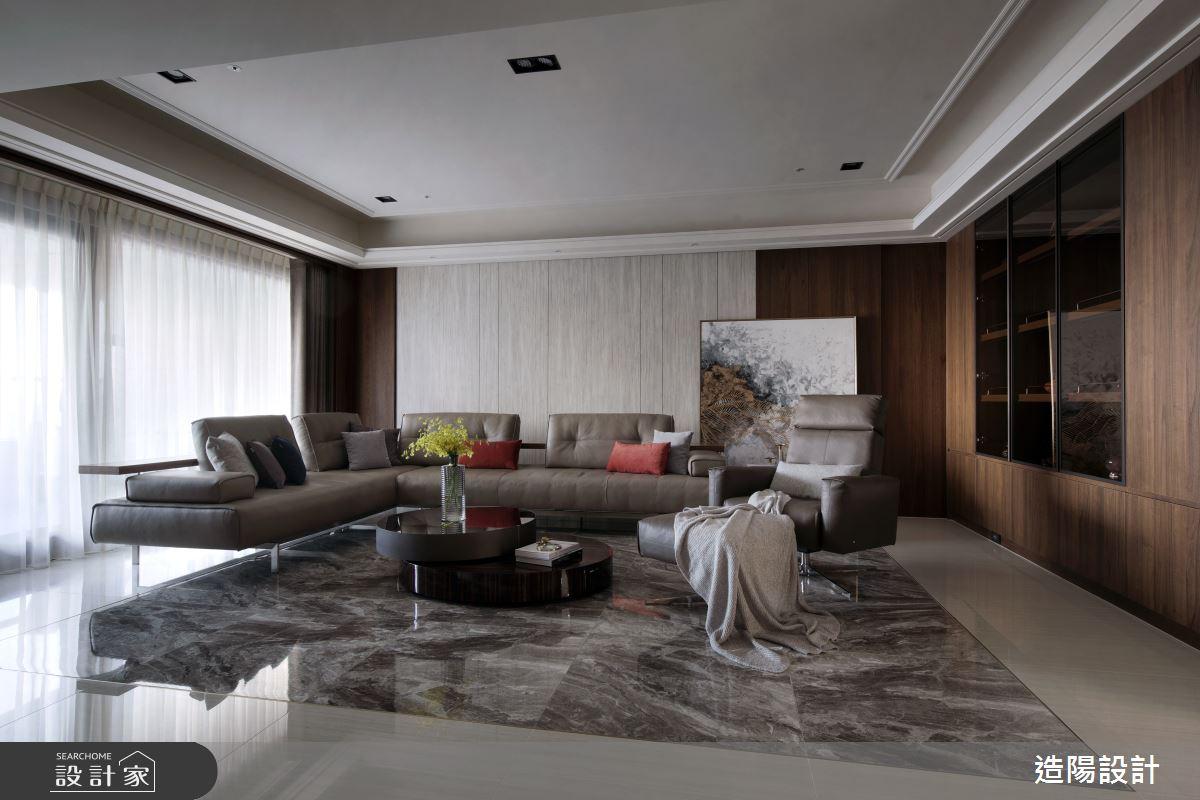 120坪新成屋(5年以下)_新中式風客廳案例圖片_造陽設計_造陽_28之5