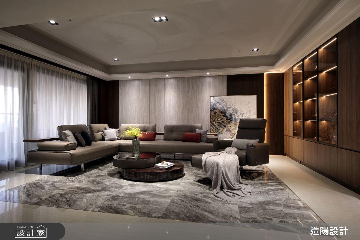 120坪新成屋(5年以下)_新中式風客廳案例圖片_造陽設計_造陽_28之6