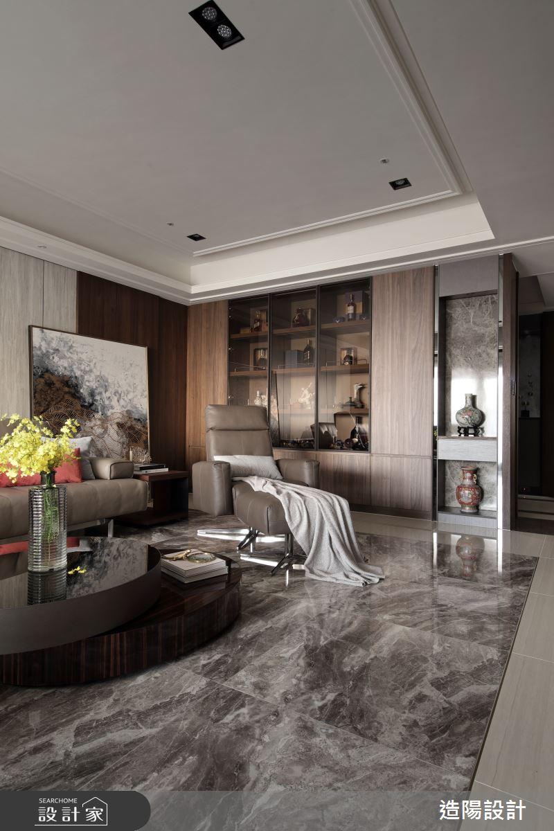 120坪新成屋(5年以下)_新中式風客廳案例圖片_造陽設計_造陽_28之7