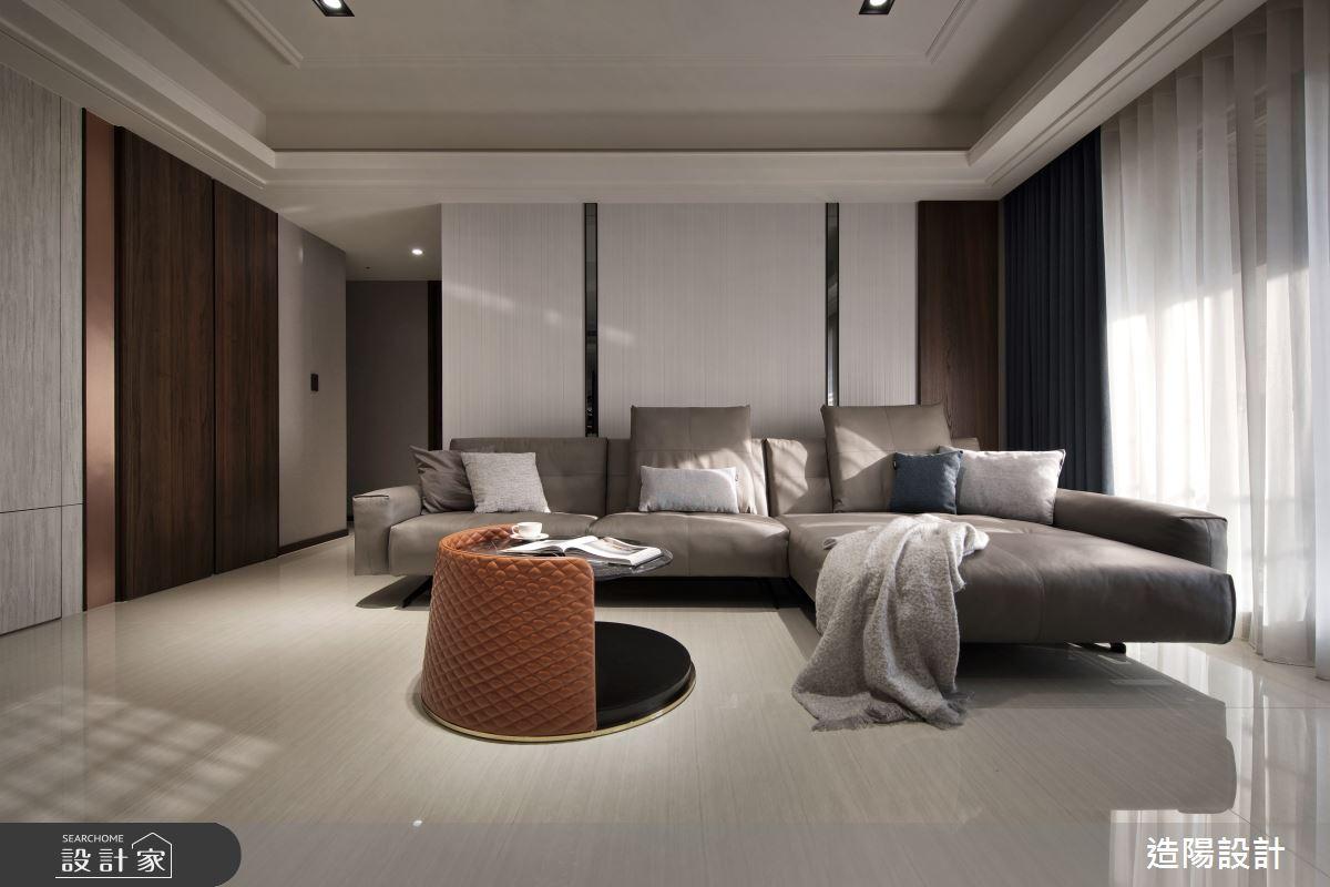 120坪新成屋(5年以下)_新中式風客廳案例圖片_造陽設計_造陽_28之10