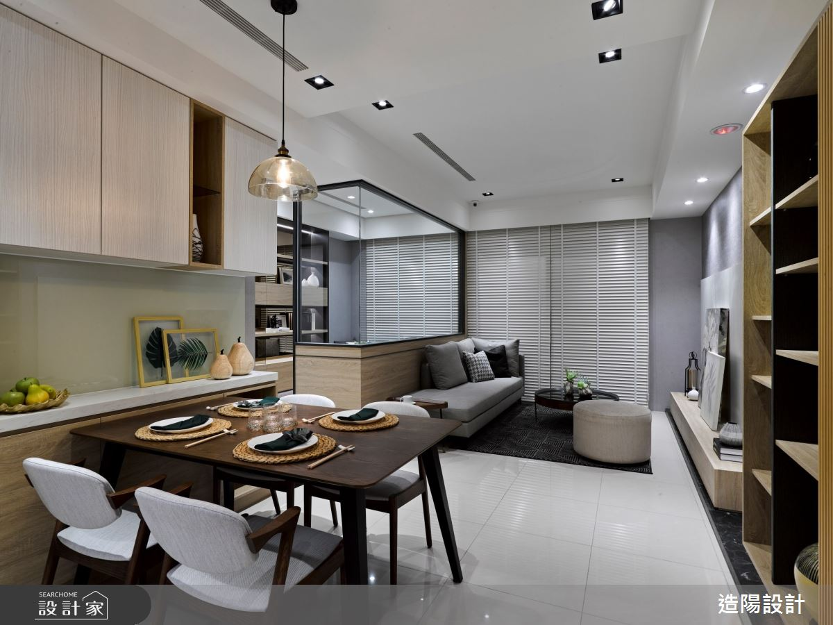 35坪新成屋(5年以下)_日式無印風客廳餐廳案例圖片_造陽設計_造陽_32之1