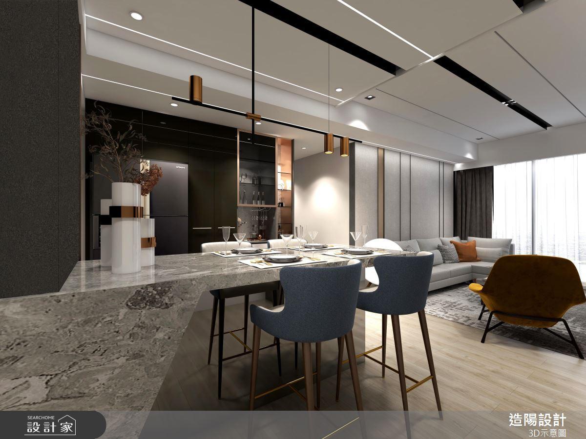 39坪預售屋_現代風餐廳案例圖片_造陽設計_造陽_36之4