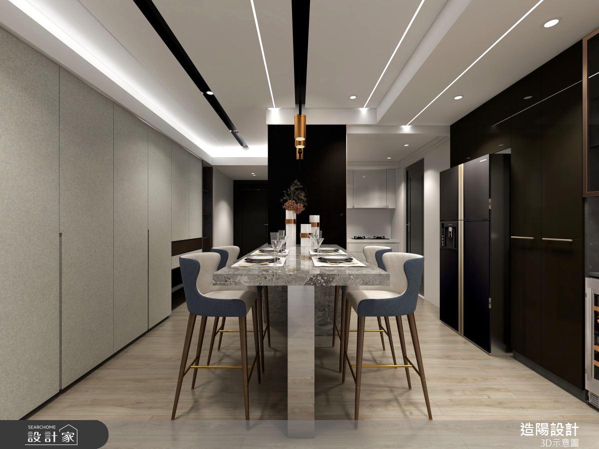 39坪預售屋_現代風餐廳案例圖片_造陽設計_造陽_36之5