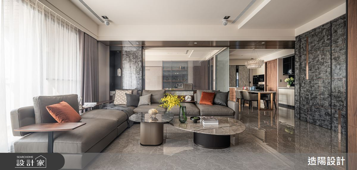 86坪新成屋(5年以下)_現代風客廳案例圖片_造陽設計_造陽_38之4