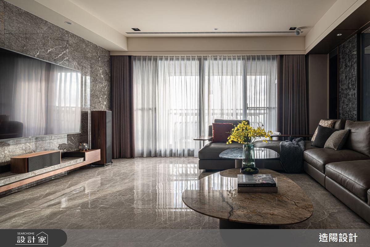86坪新成屋(5年以下)_現代風客廳案例圖片_造陽設計_造陽_38之2