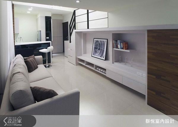 18坪新成屋(5年以下)_簡約風客廳案例圖片_群悅設計工程有限公司_群悅_02之2