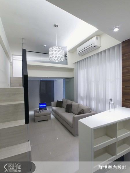 18坪新成屋(5年以下)_簡約風客廳案例圖片_群悅設計工程有限公司_群悅_02之3