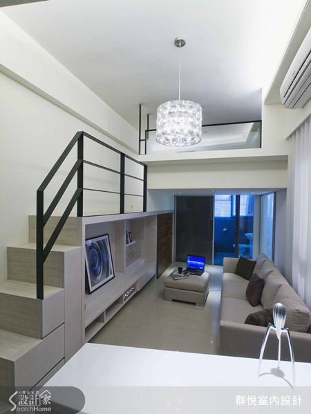 18坪新成屋(5年以下)_簡約風客廳案例圖片_群悅設計工程有限公司_群悅_02之4