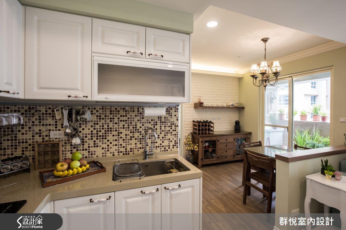 25坪中古屋(5~15年)_美式風廚房案例圖片_群悅設計工程有限公司_群悅_09之12