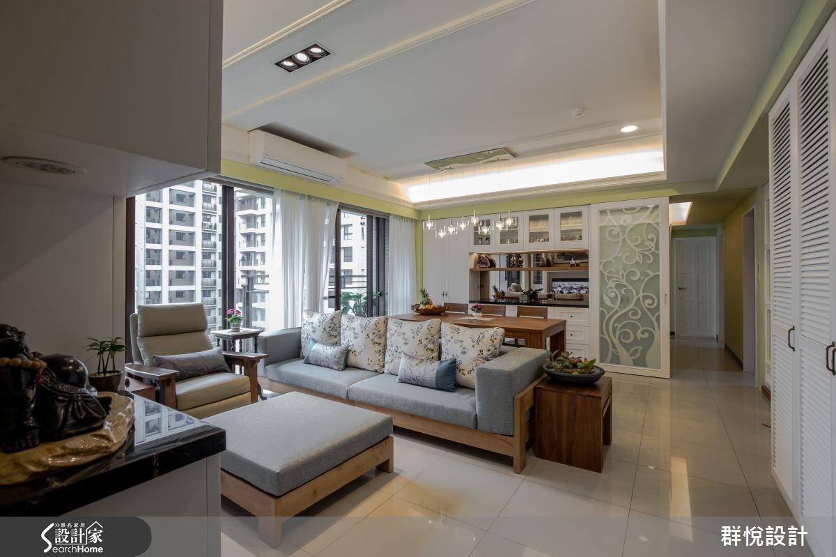 33坪新成屋(5年以下)_美式風客廳案例圖片_群悅設計工程有限公司_群悅_11之1