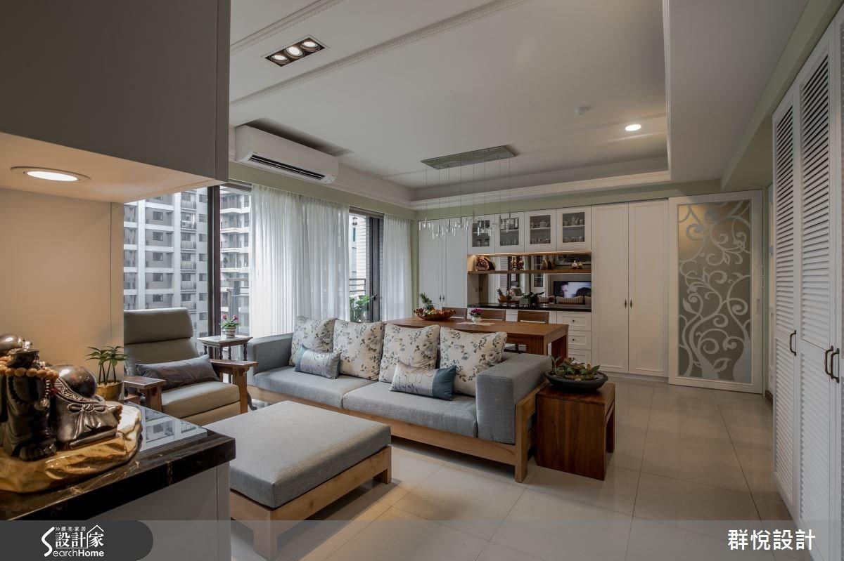 33坪新成屋(5年以下)_美式風客廳案例圖片_群悅設計工程有限公司_群悅_11之2