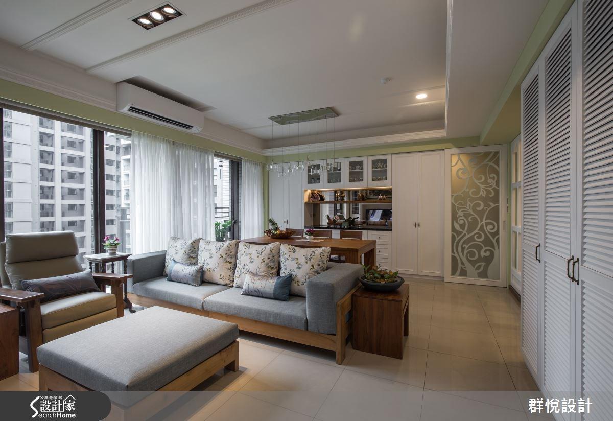33坪新成屋(5年以下)_美式風客廳案例圖片_群悅設計工程有限公司_群悅_11之3