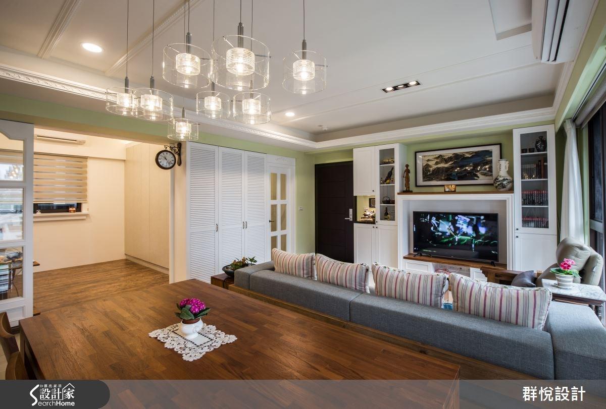 33坪新成屋(5年以下)_美式風客廳案例圖片_群悅設計工程有限公司_群悅_11之7