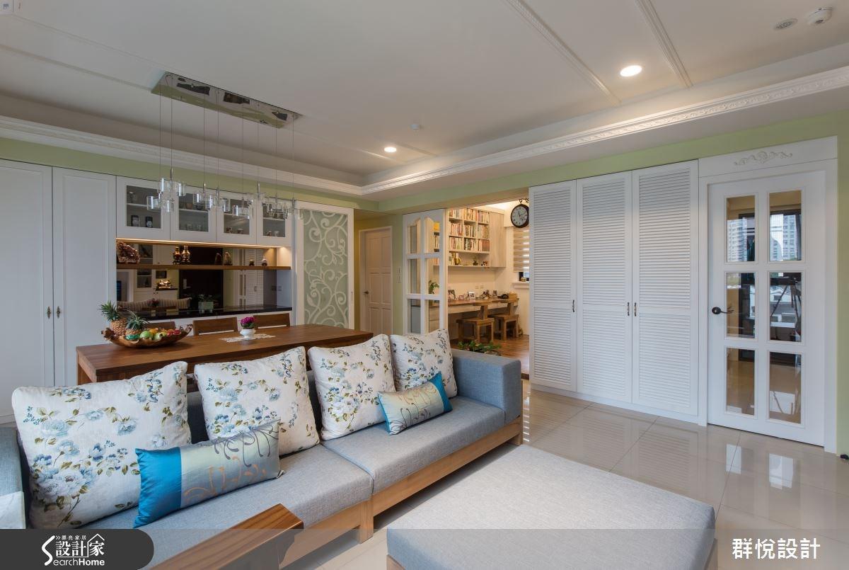 33坪新成屋(5年以下)_美式風客廳案例圖片_群悅設計工程有限公司_群悅_11之10