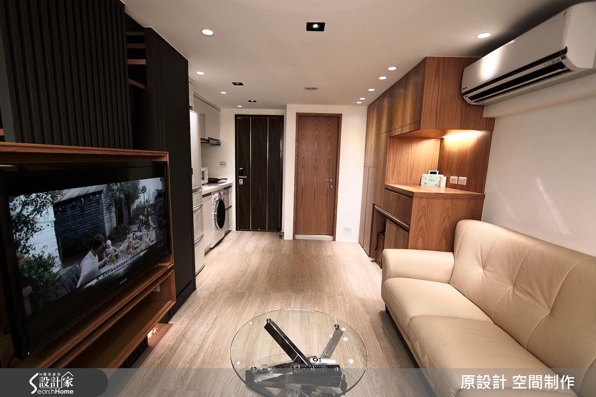 機能收納 X 流暢動線 獨享 11 坪溫潤木色樓中樓