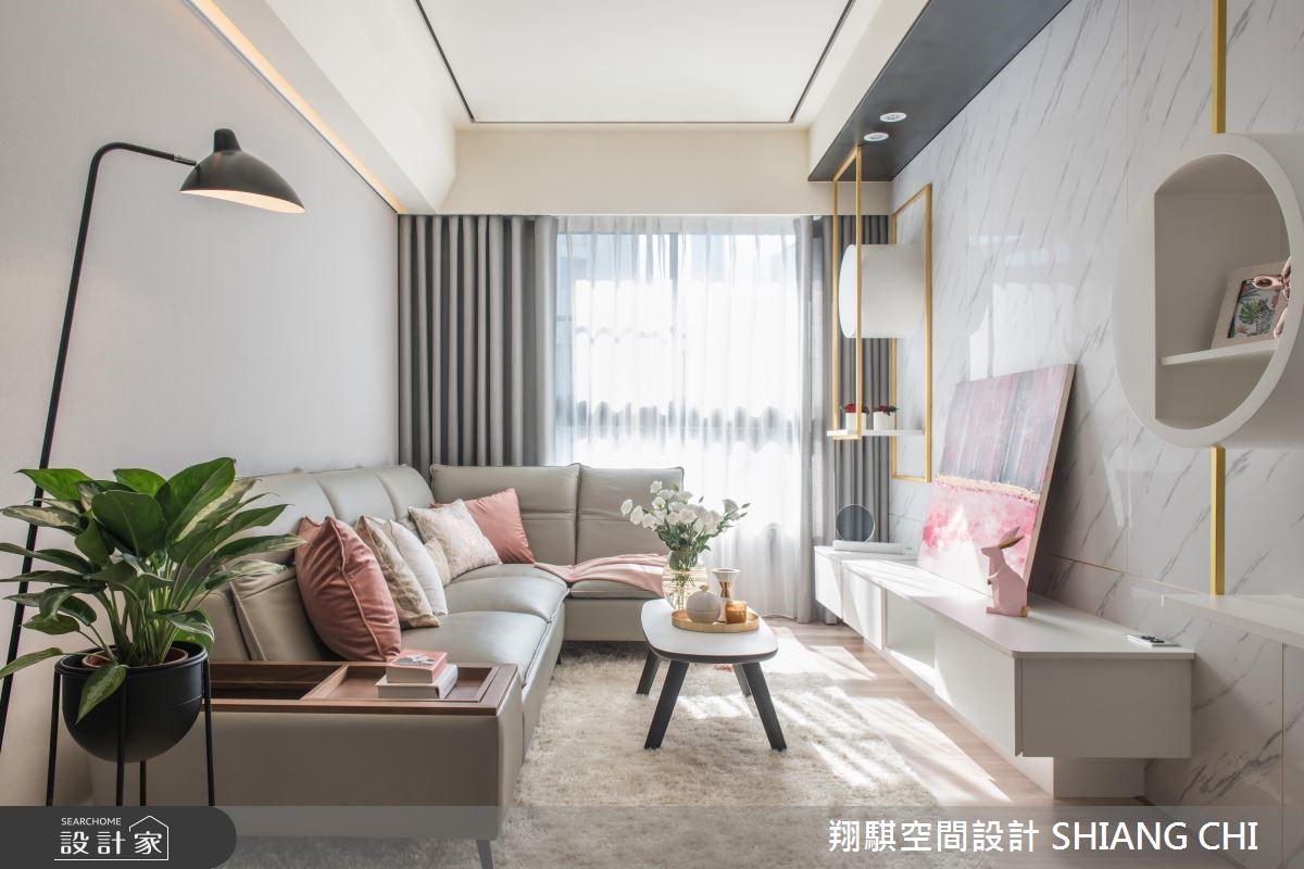 33坪新成屋(5年以下)_混搭風客廳案例圖片_翔騏空間設計_翔騏_02之4
