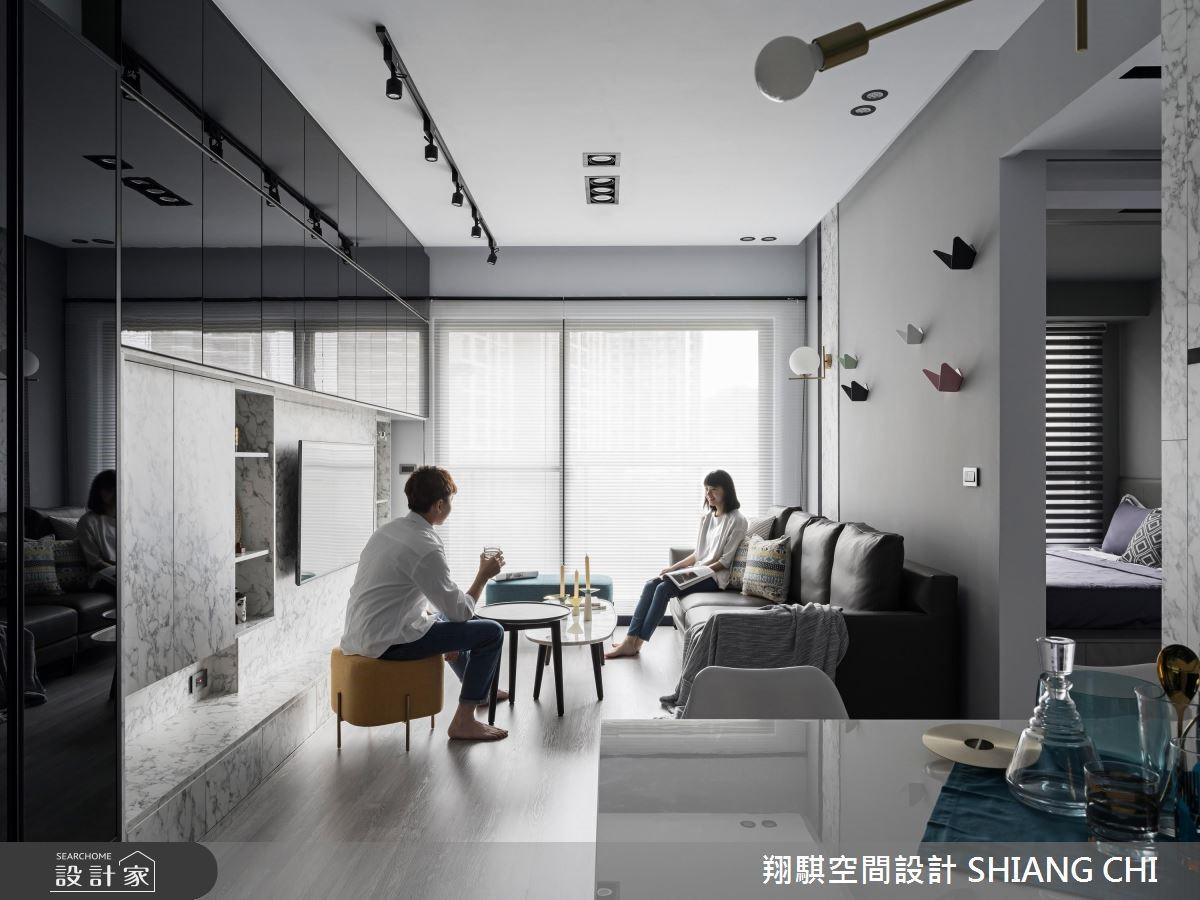25坪新成屋(5年以下)_現代風客廳案例圖片_翔騏空間設計_翔騏_03之3
