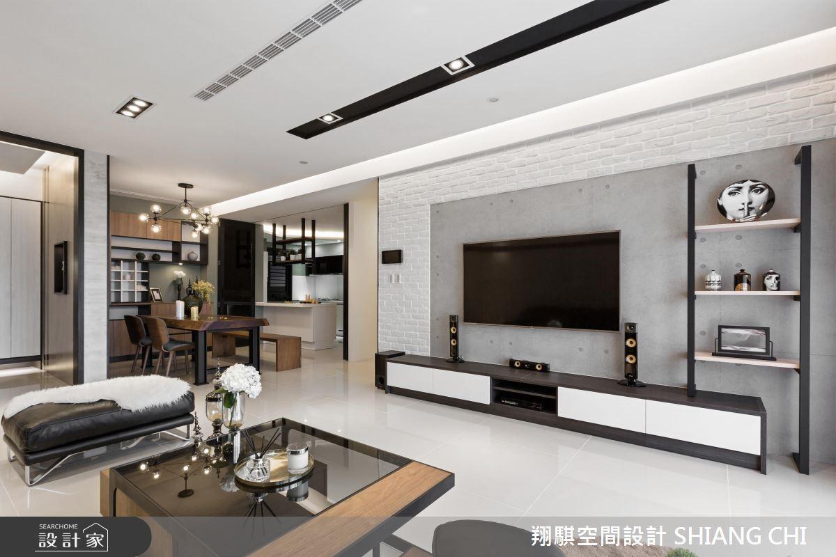 50坪新成屋(5年以下)_混搭風客廳案例圖片_翔騏空間設計_翔騏_04之2
