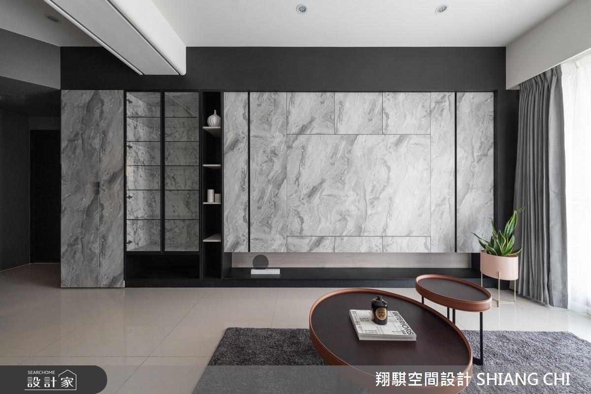 26坪新成屋(5年以下)_現代風客廳案例圖片_翔騏空間設計_翔騏_10之3
