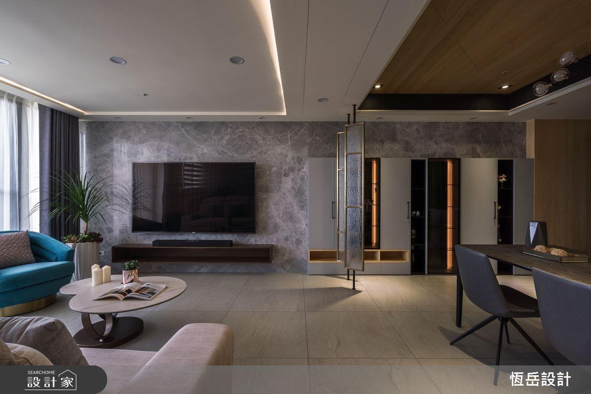 26坪新成屋(5年以下)_混搭風客廳案例圖片_恆岳設計_恆岳_安定|依存之4