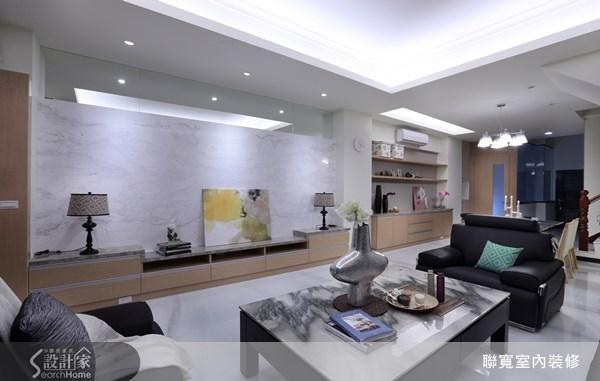 80坪新成屋(5年以下)_現代風客廳案例圖片_聯寬室內裝修有限公司_聯寬_02之3