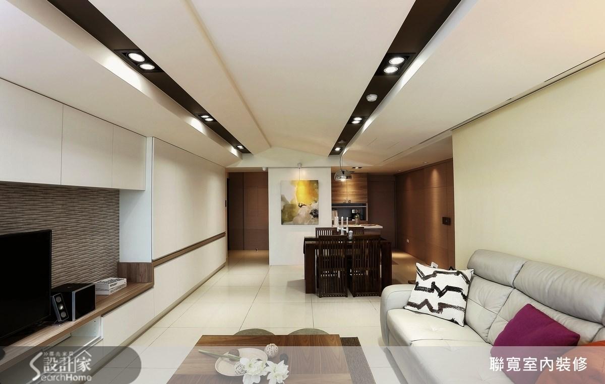 37坪新成屋(5年以下)_現代風客廳案例圖片_聯寬室內裝修有限公司_聯寬_03之1