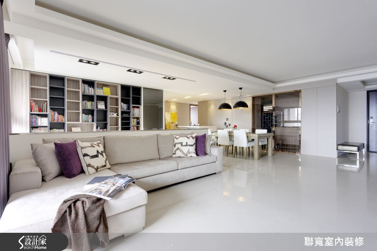 50坪新成屋(5年以下)_現代風客廳案例圖片_聯寬室內裝修有限公司_聯寬_06之3