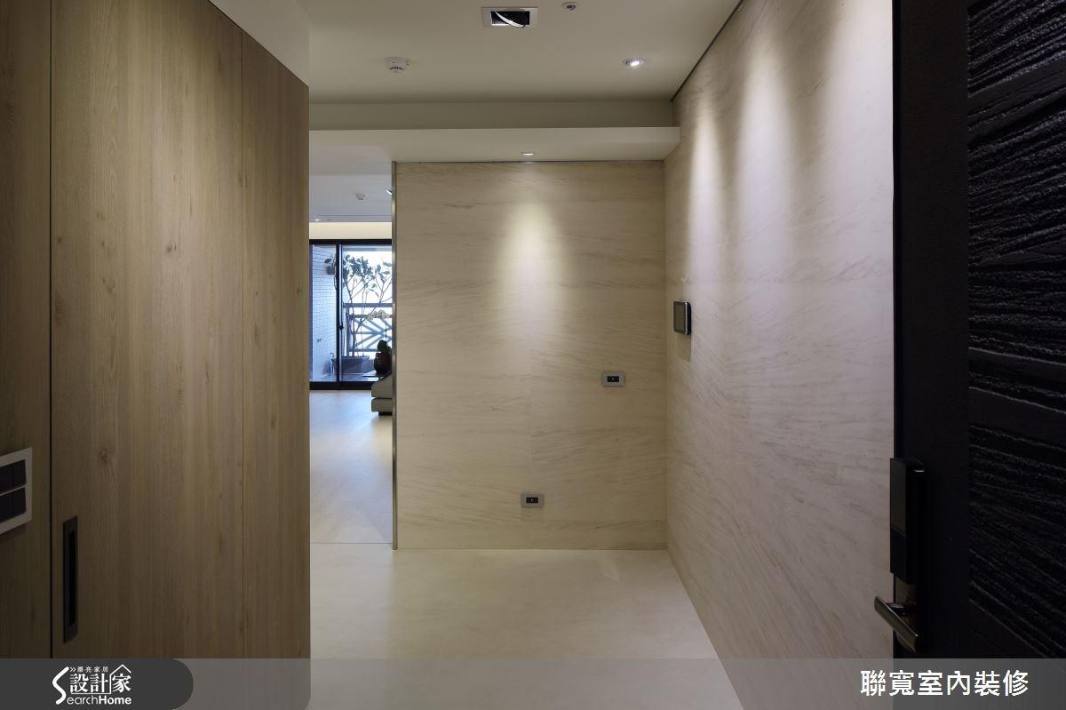 50坪新成屋(5年以下)_現代風玄關案例圖片_聯寬室內裝修有限公司_聯寬_15之1