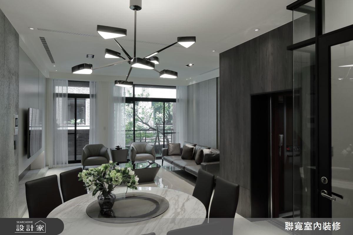 60坪新成屋(5年以下)_現代風客廳餐廳案例圖片_聯寬室內裝修有限公司_聯寬_19之2