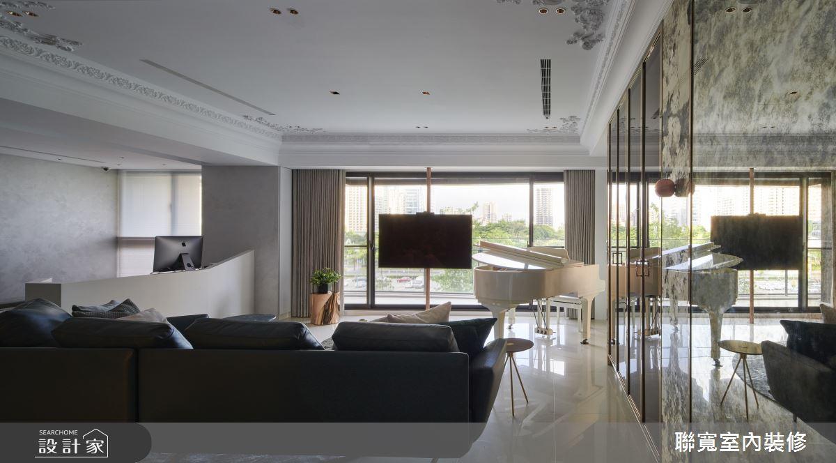 52坪新成屋(5年以下)_現代風客廳案例圖片_聯寬室內裝修有限公司_聯寬_26之5