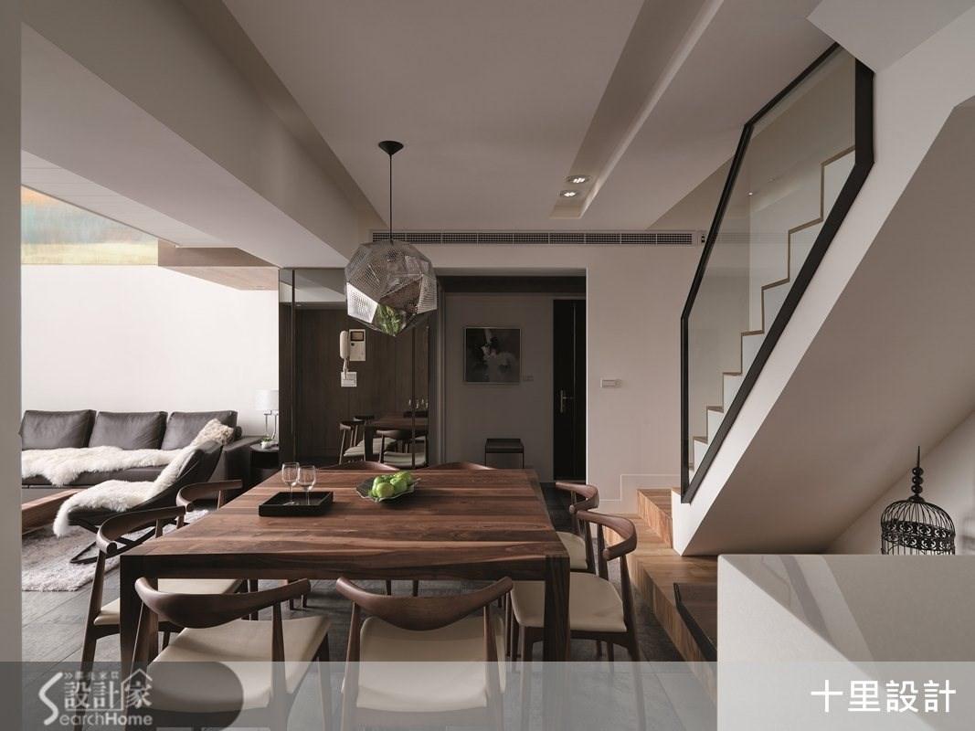 50坪老屋(16~30年)_現代風餐廳樓梯案例圖片_十里設計_十里_01之2