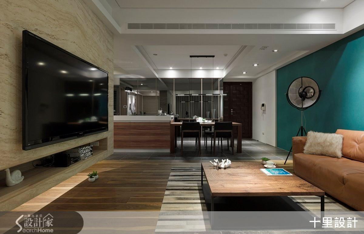 32坪中古屋(5~15年)_現代風客廳餐廳案例圖片_十里設計_十里_03之3
