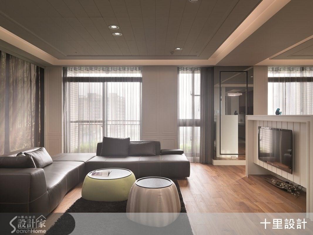 55坪預售屋_現代風客廳案例圖片_十里設計_十里_04之5
