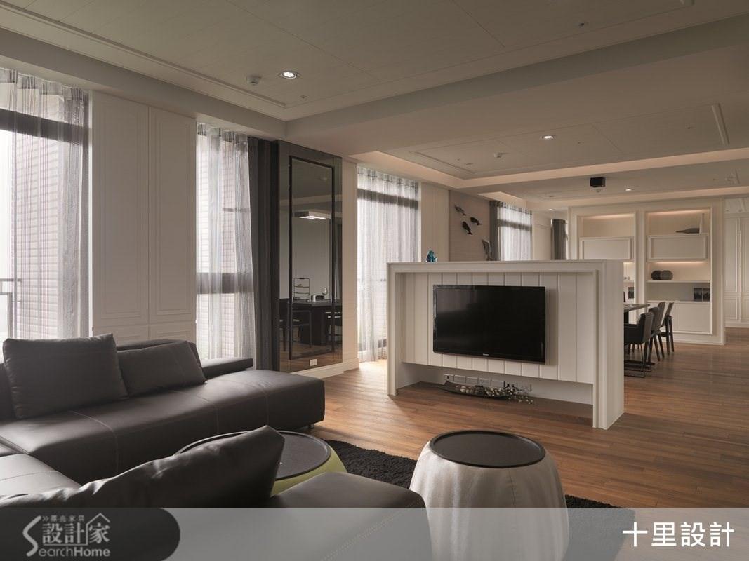 55坪預售屋_現代風客廳案例圖片_十里設計_十里_04之4