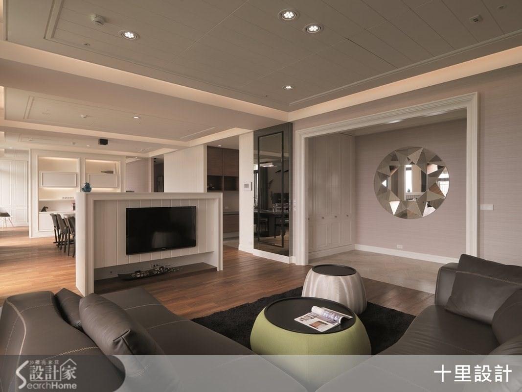55坪預售屋_現代風客廳案例圖片_十里設計_十里_04之3