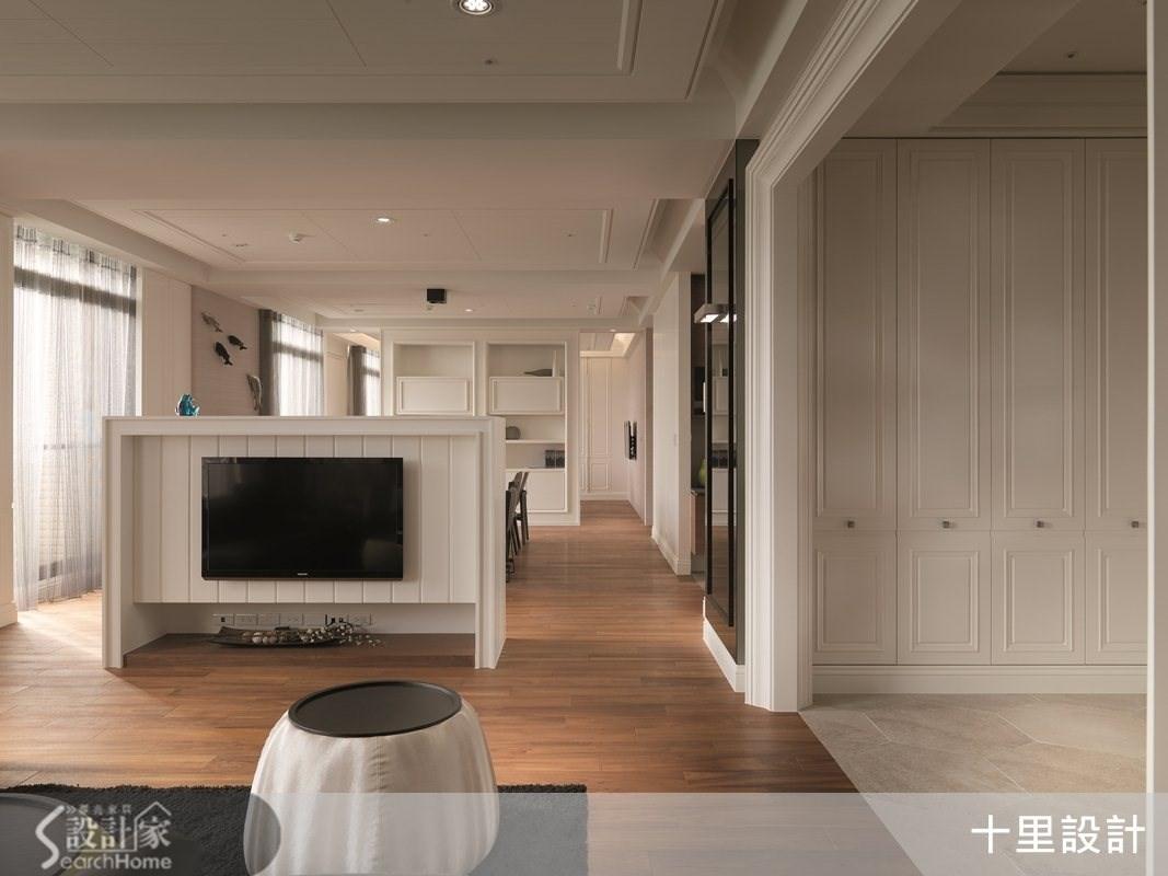 55坪預售屋_現代風客廳案例圖片_十里設計_十里_04之1