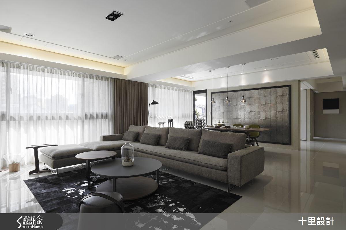 45坪新成屋(5年以下)_混搭風客廳餐廳案例圖片_十里設計_十里_05之3