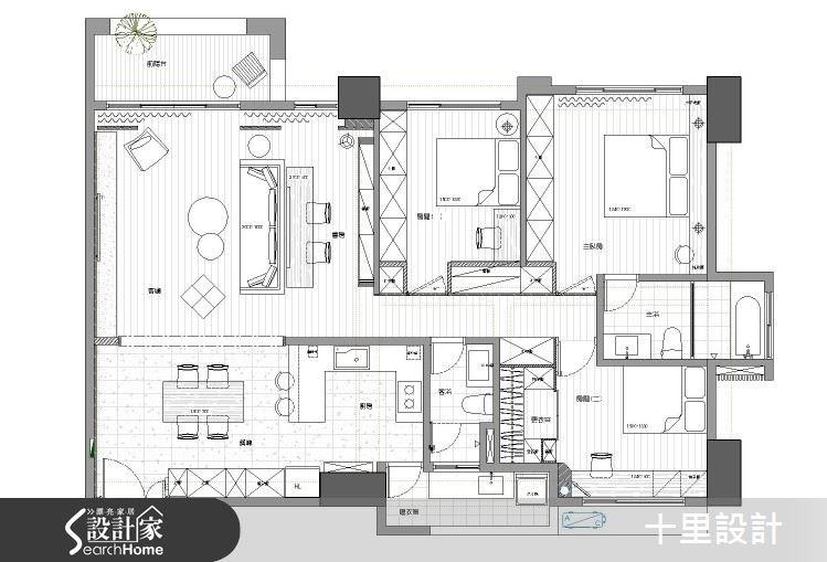 新成屋(5年以下)_現代風案例圖片_十里設計_十里_06之13