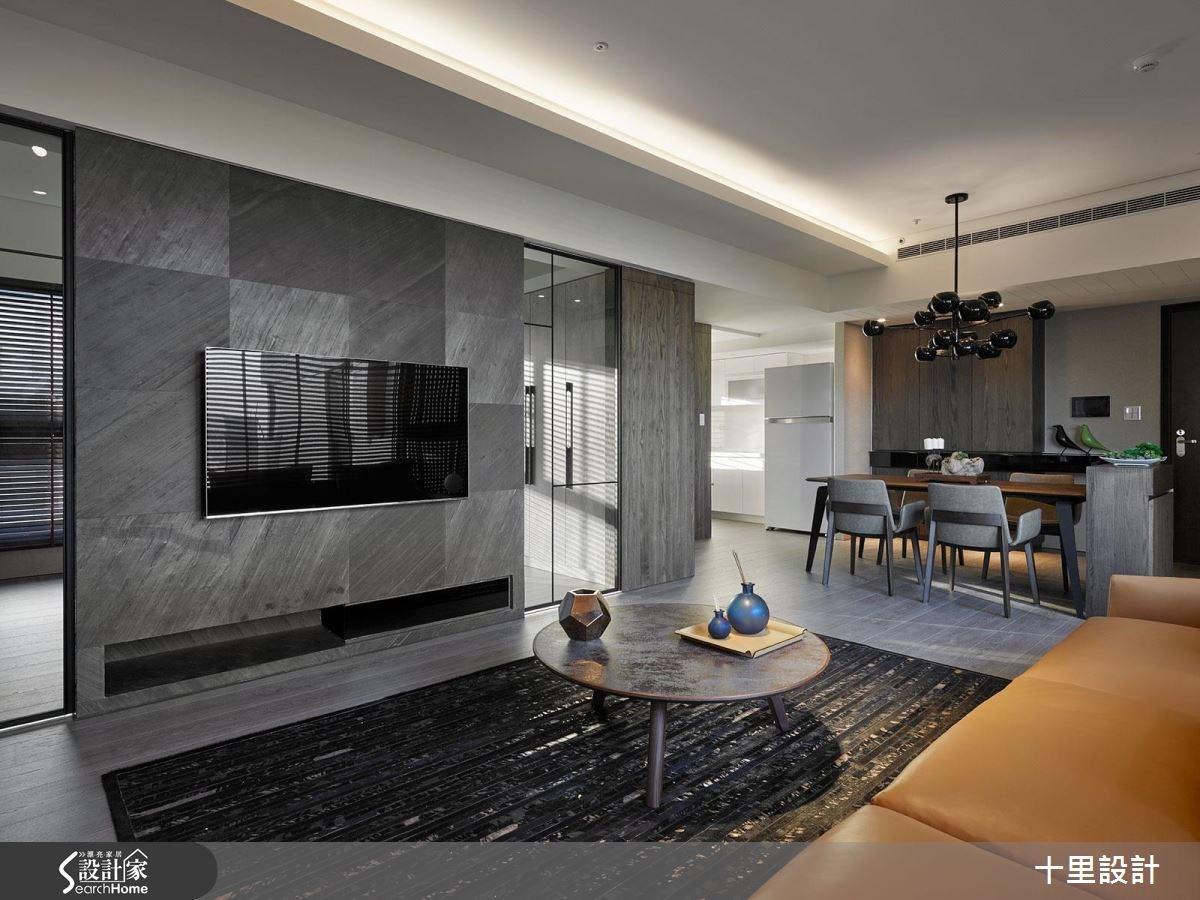預售屋_現代風客廳餐廳案例圖片_十里設計_十里_10之7