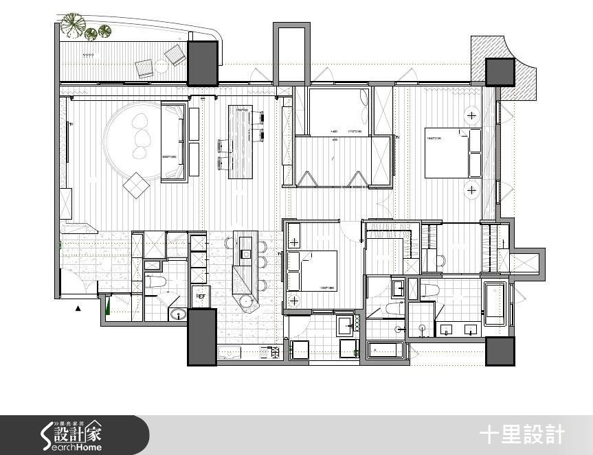 47坪新成屋(5年以下)_混搭風案例圖片_十里設計_十里_11之19