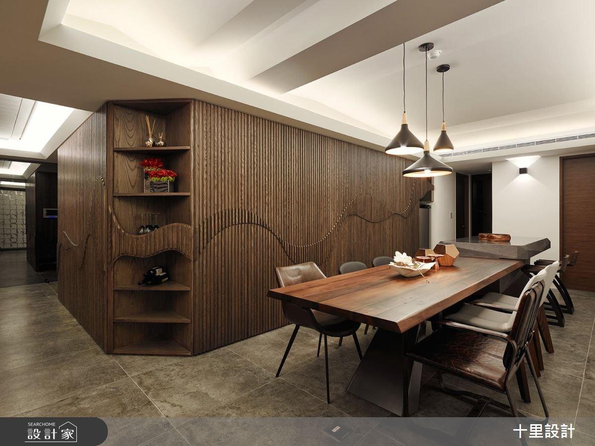 37坪新成屋(5年以下)_現代風餐廳案例圖片_十里設計_十里_12之3