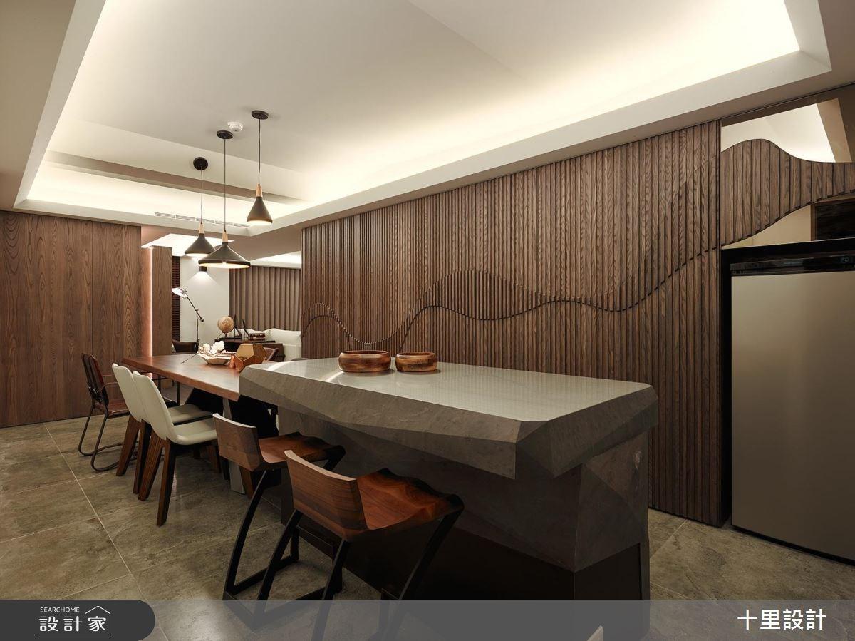 37坪新成屋(5年以下)_現代風餐廳吧檯案例圖片_十里設計_十里_12之4
