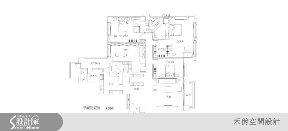60坪新成屋(5年以下)_現代風案例圖片_禾佾空間設計事務所_禾佾_03之12