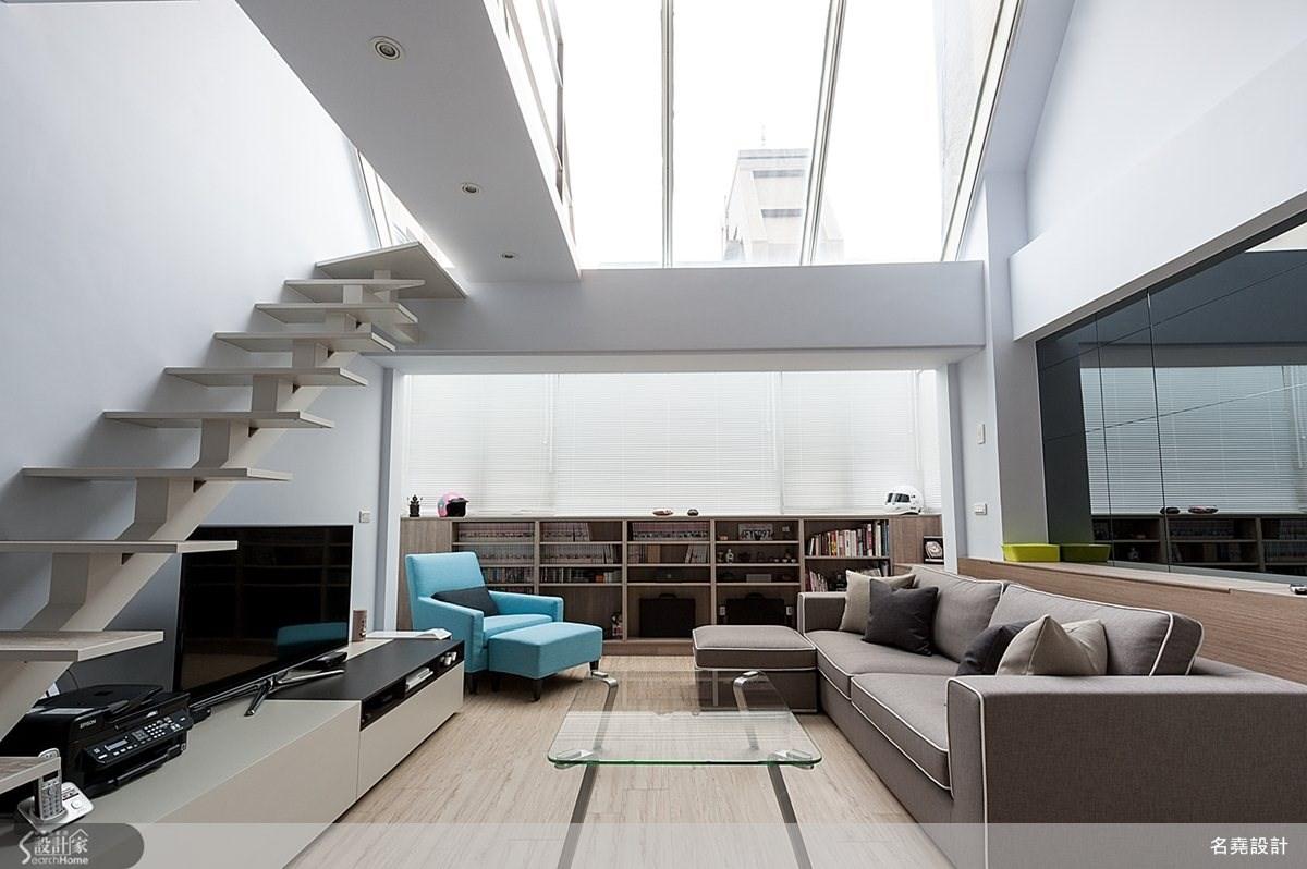28坪老屋(16~30年)_簡約風客廳樓梯案例圖片_名堯設計有限公司_名堯_01之2