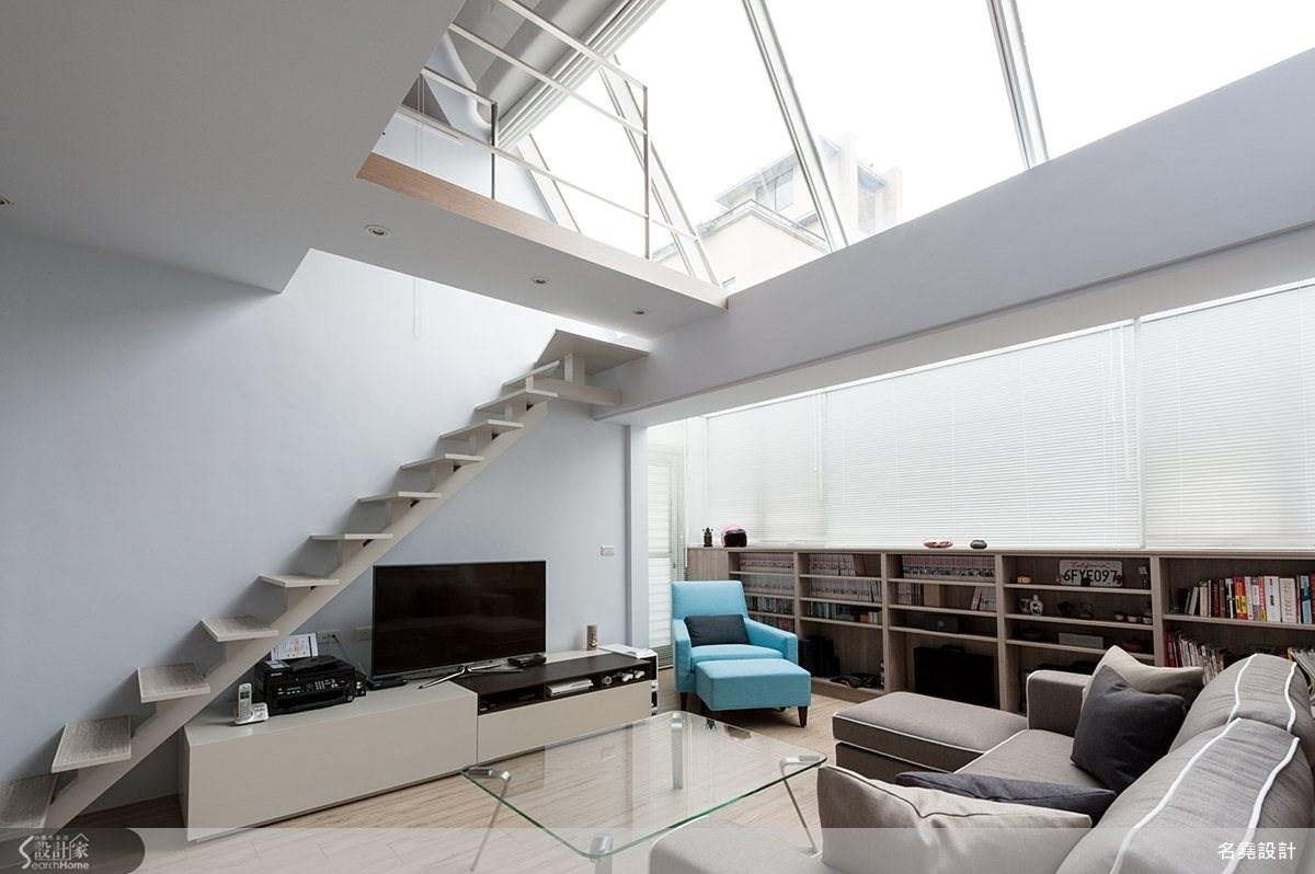 28坪老屋(16~30年)_簡約風客廳樓梯案例圖片_名堯設計有限公司_名堯_01之3